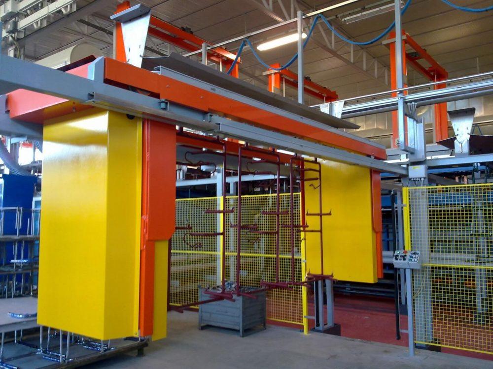Impianto statico , traslatore sollevatore aereo per carico scarico materiale (2)