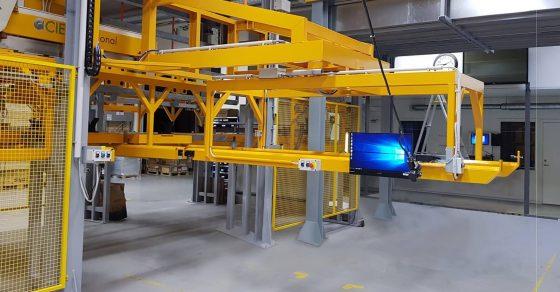 Impianto statico,traslatore sollevatore carico scarico per magazzino telai (2)